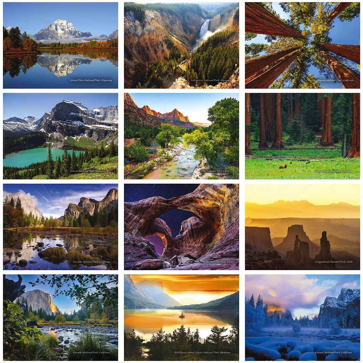 2019 National Parks Wall Calendar
