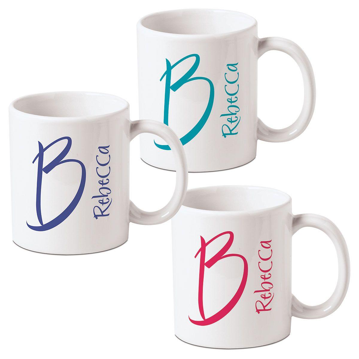 Personalized Big Alpha Mugs