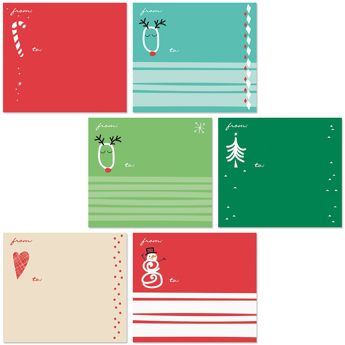 Holiday Mailing Package Label