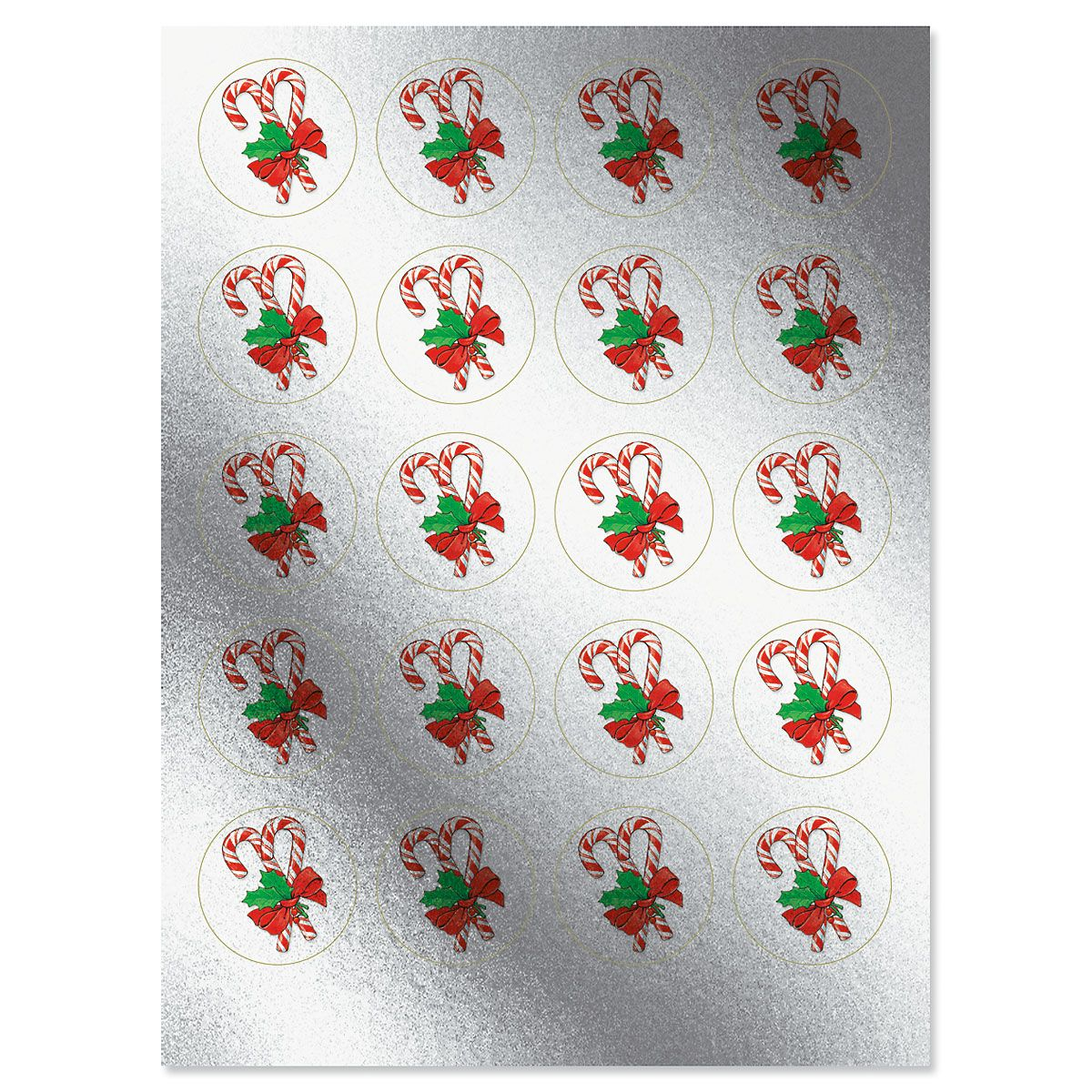 Foil Candy Canes Stickers