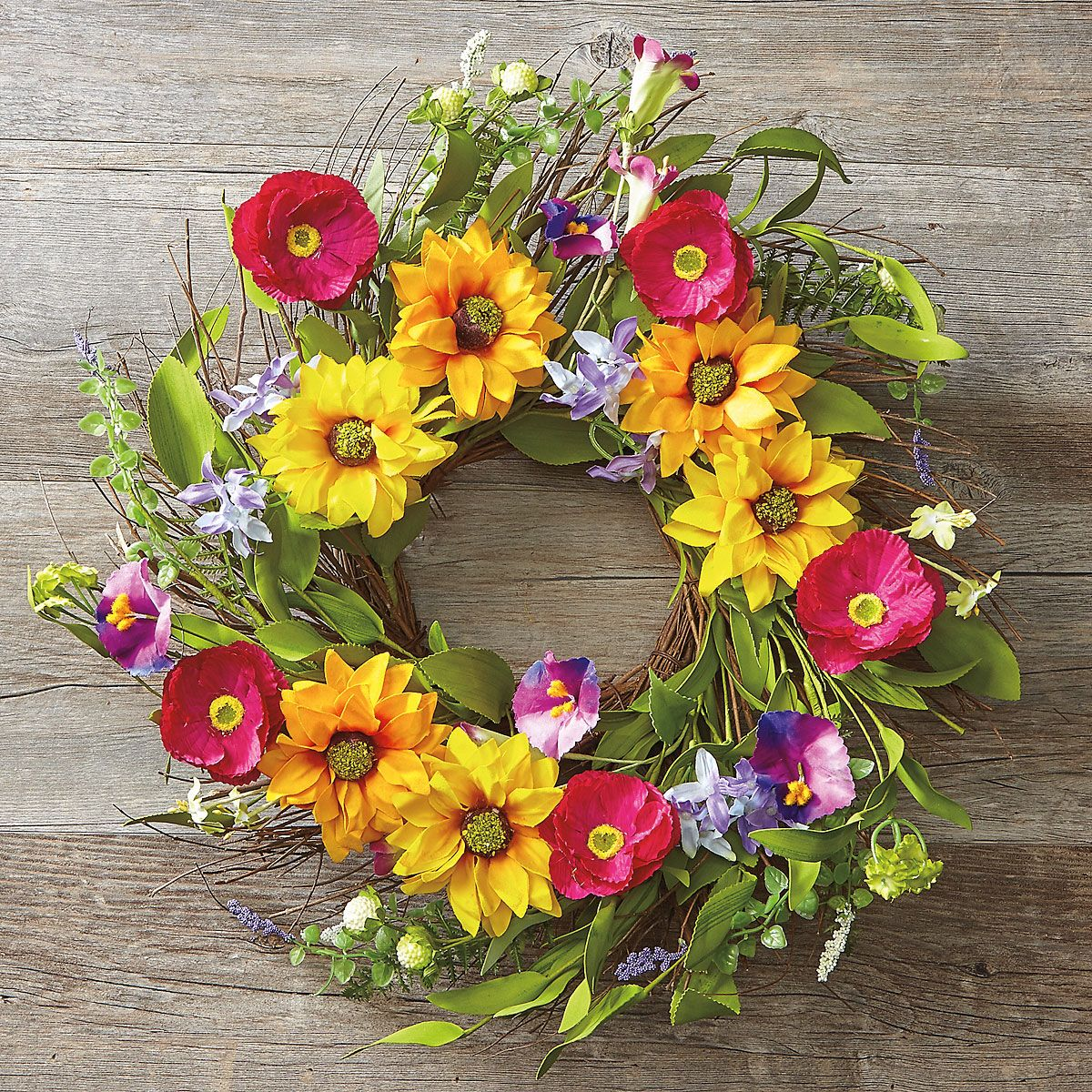 Sunflower Field Wreath by Current Catalog