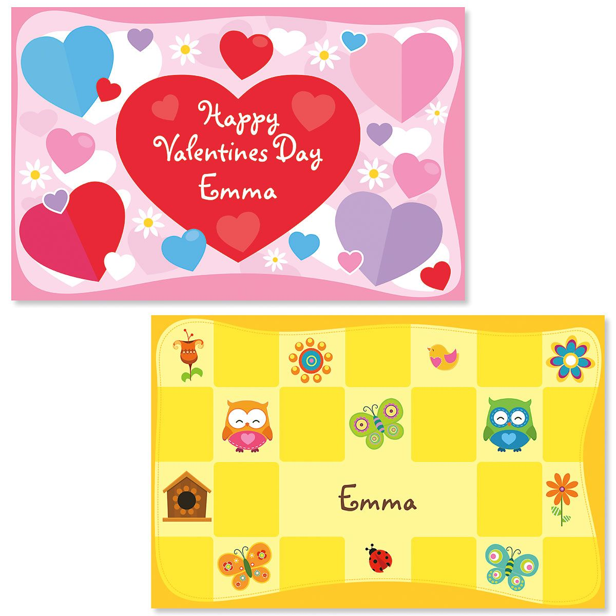Hearts Personalized Kids' Placemat