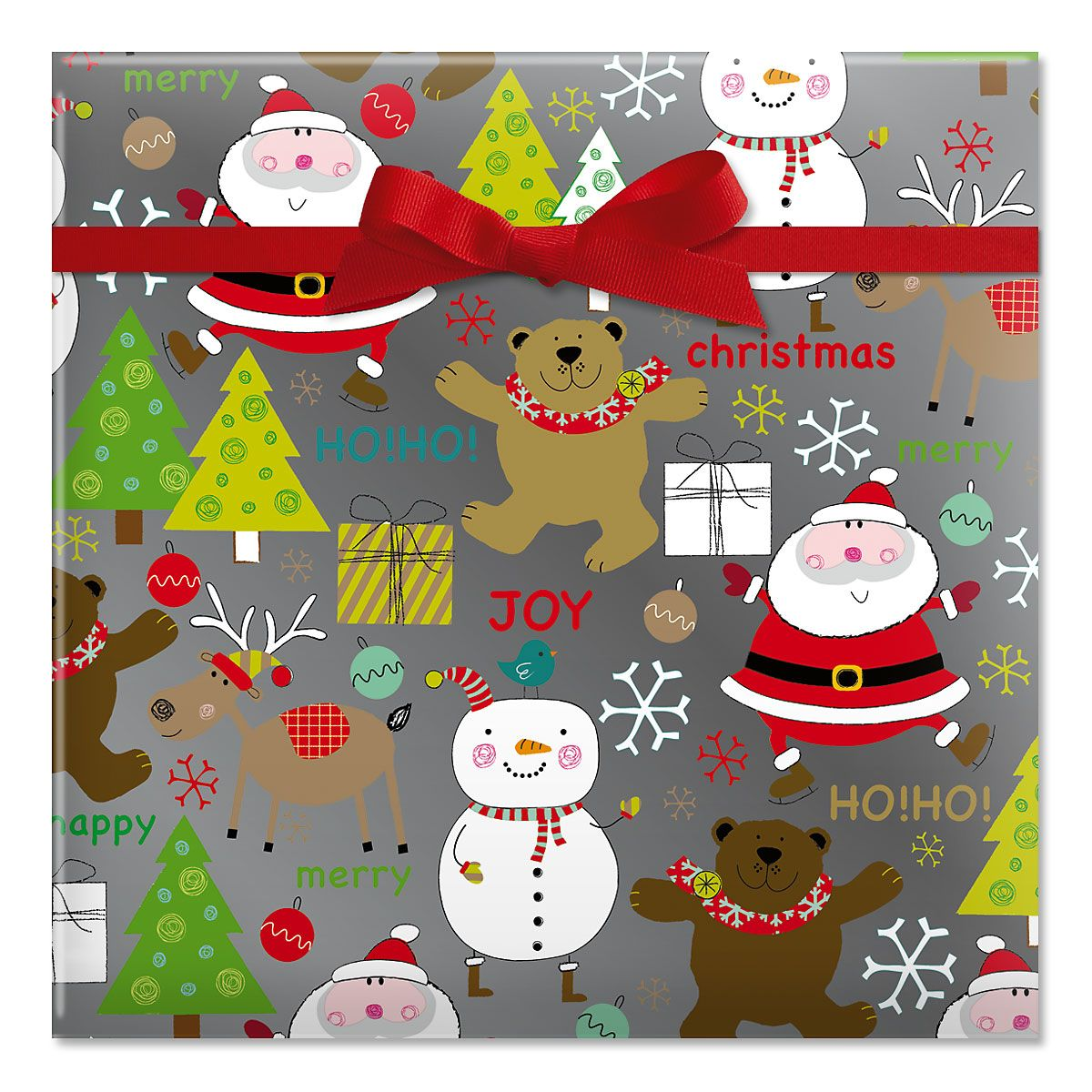 Winter Fun Foil Rolled Gift Wrap