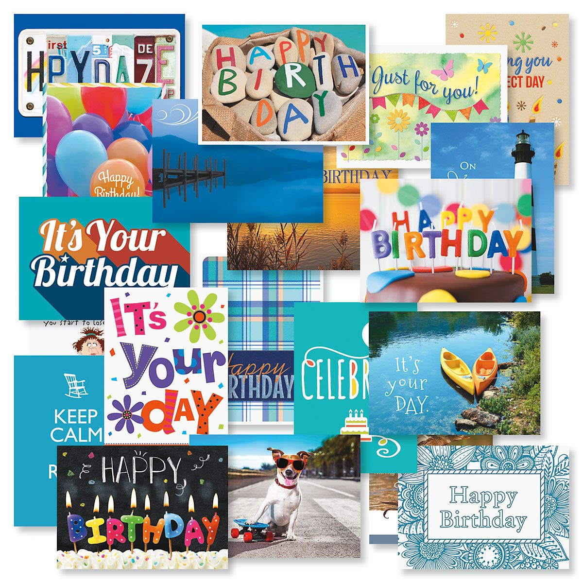 Mega Birthday Greeting Cards Value Pack