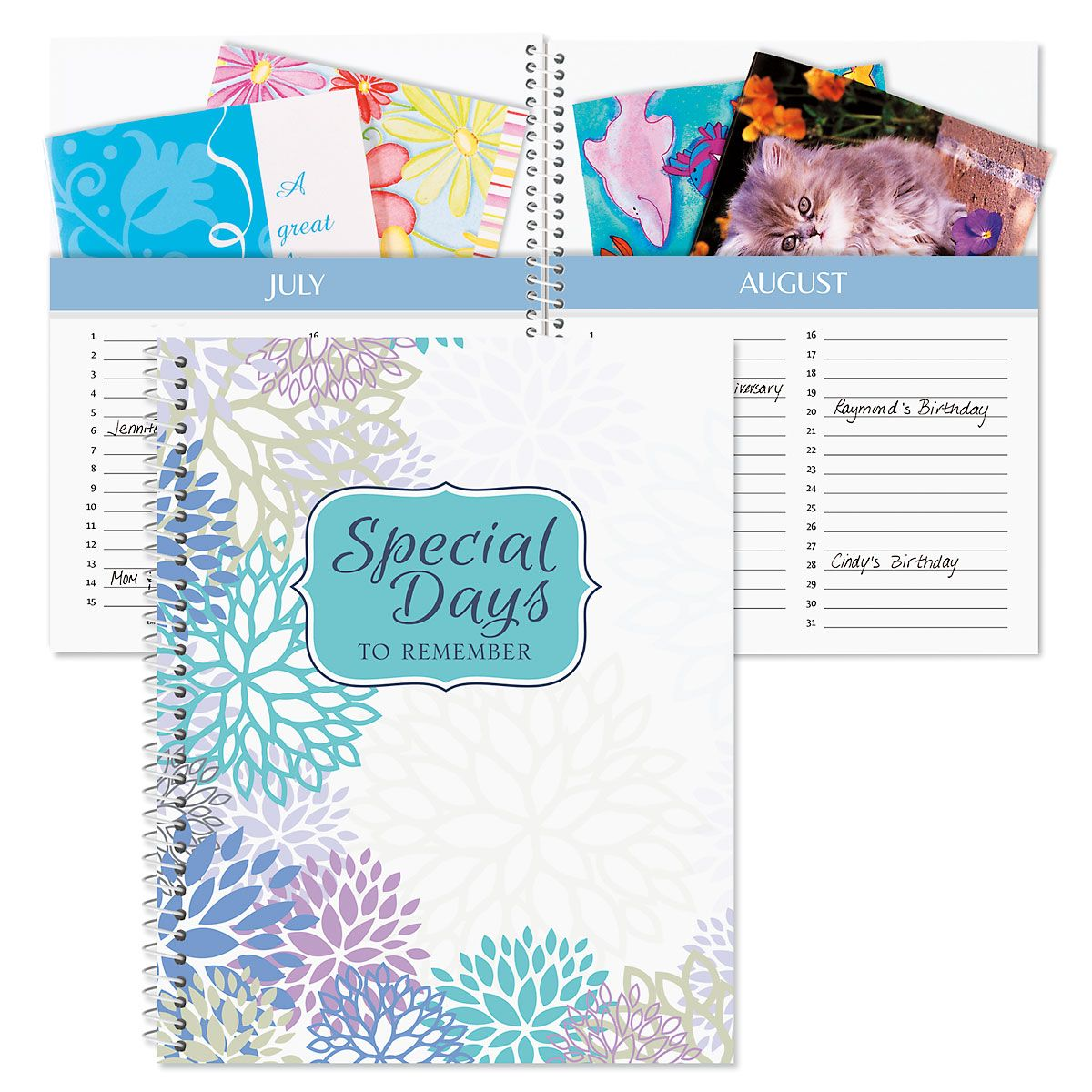 Cool Floral Card Organizer Book