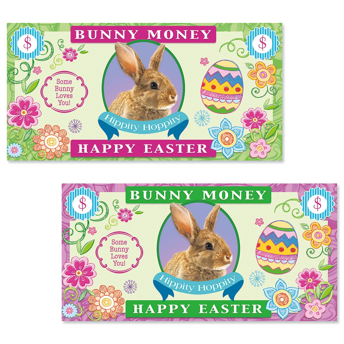 Easter Bunny Money Envelopes