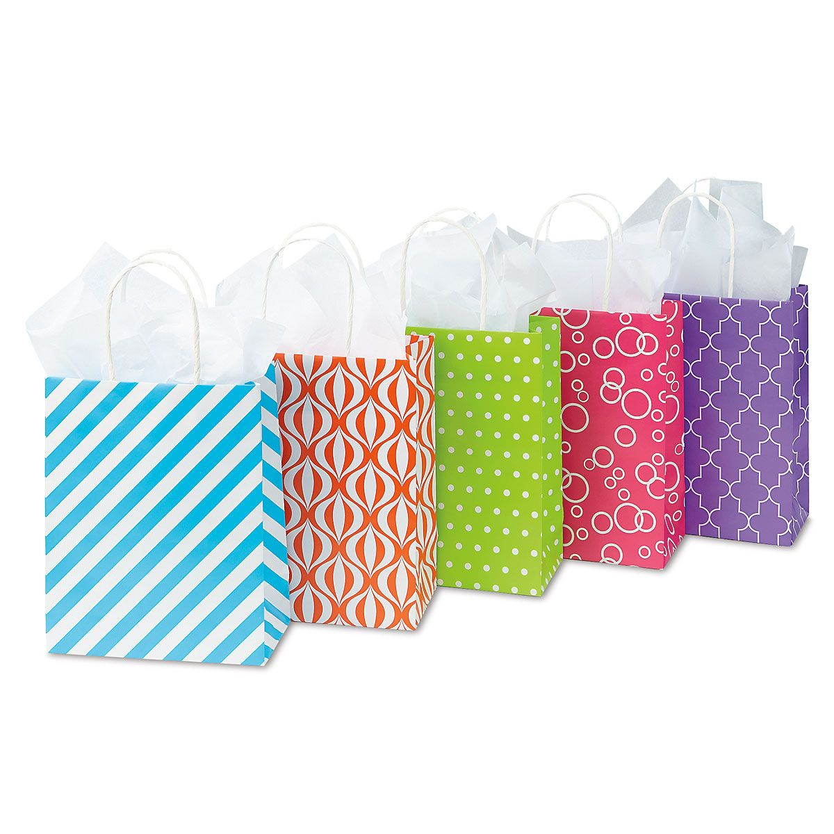 Spring Dots & Designs Gift Bags