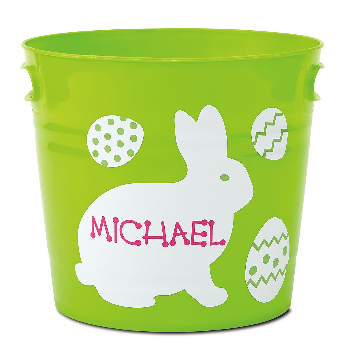 Kids Personalized Green Easter Bucket