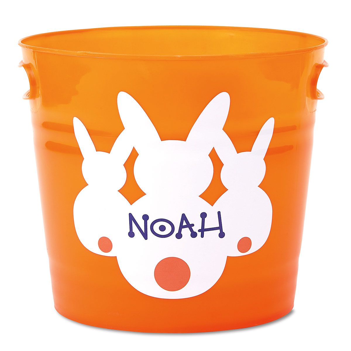 Kids Personalized Orange Easter Bucket