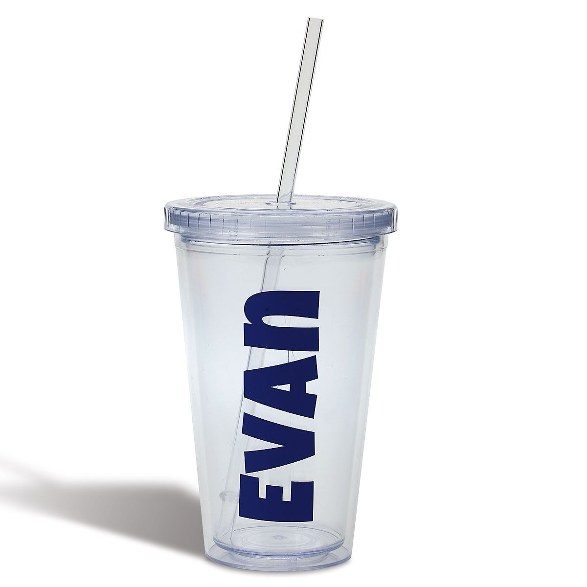 Personalized Acrylic Beverage Cup - Blue