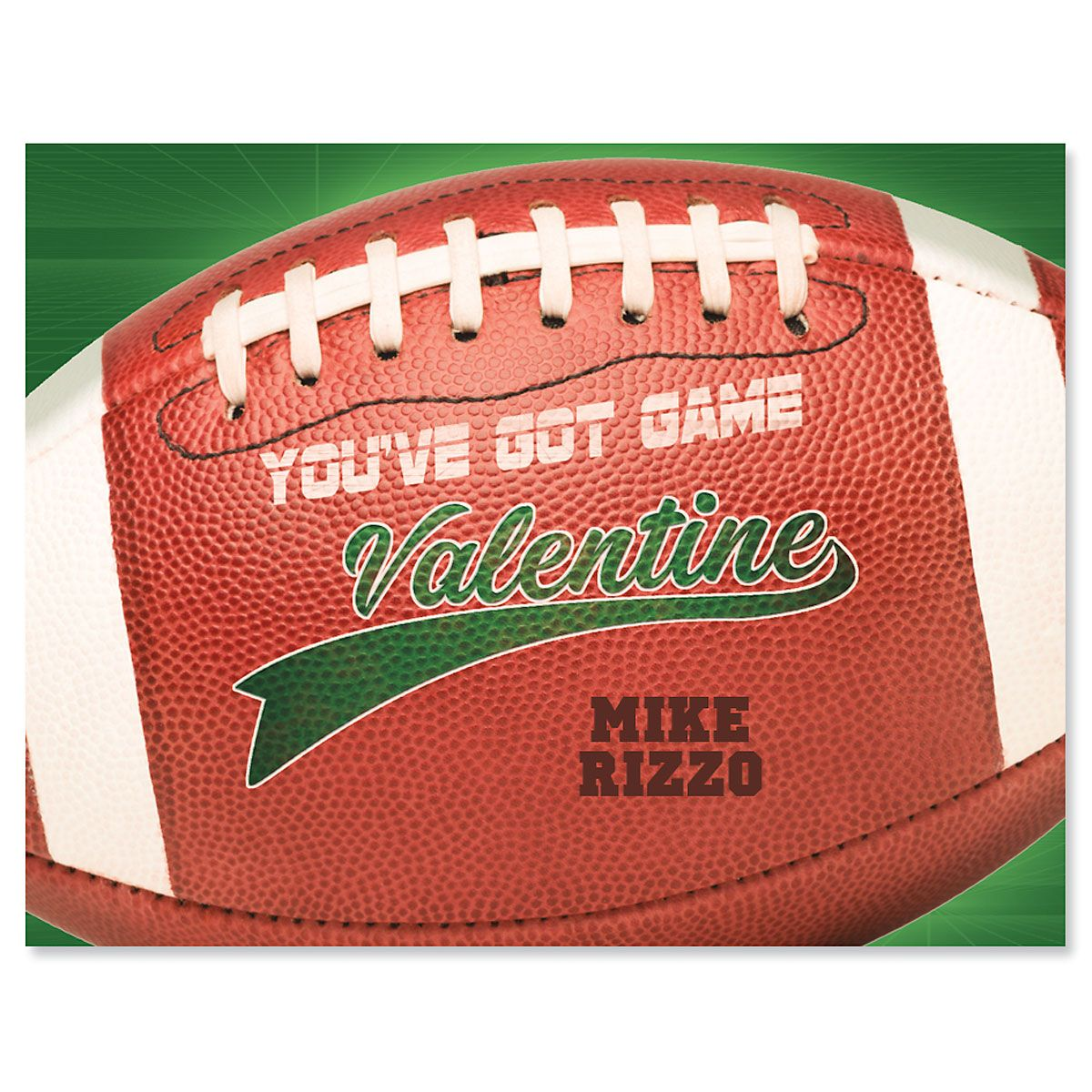 Personalized Sports Valentines - Football
