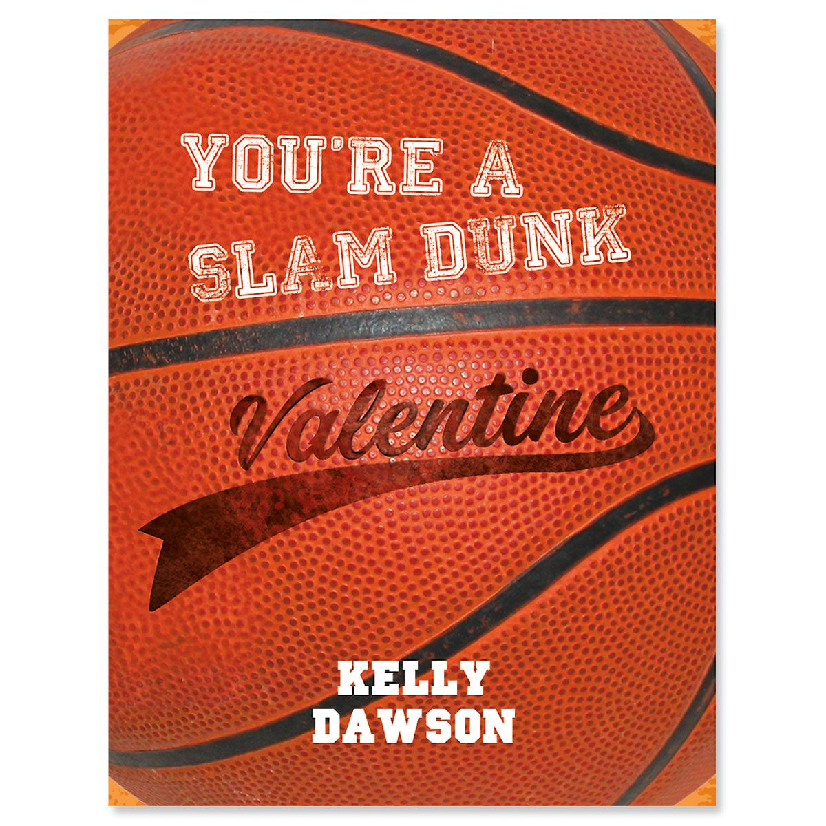Personalized Sports Valentines - Basketball