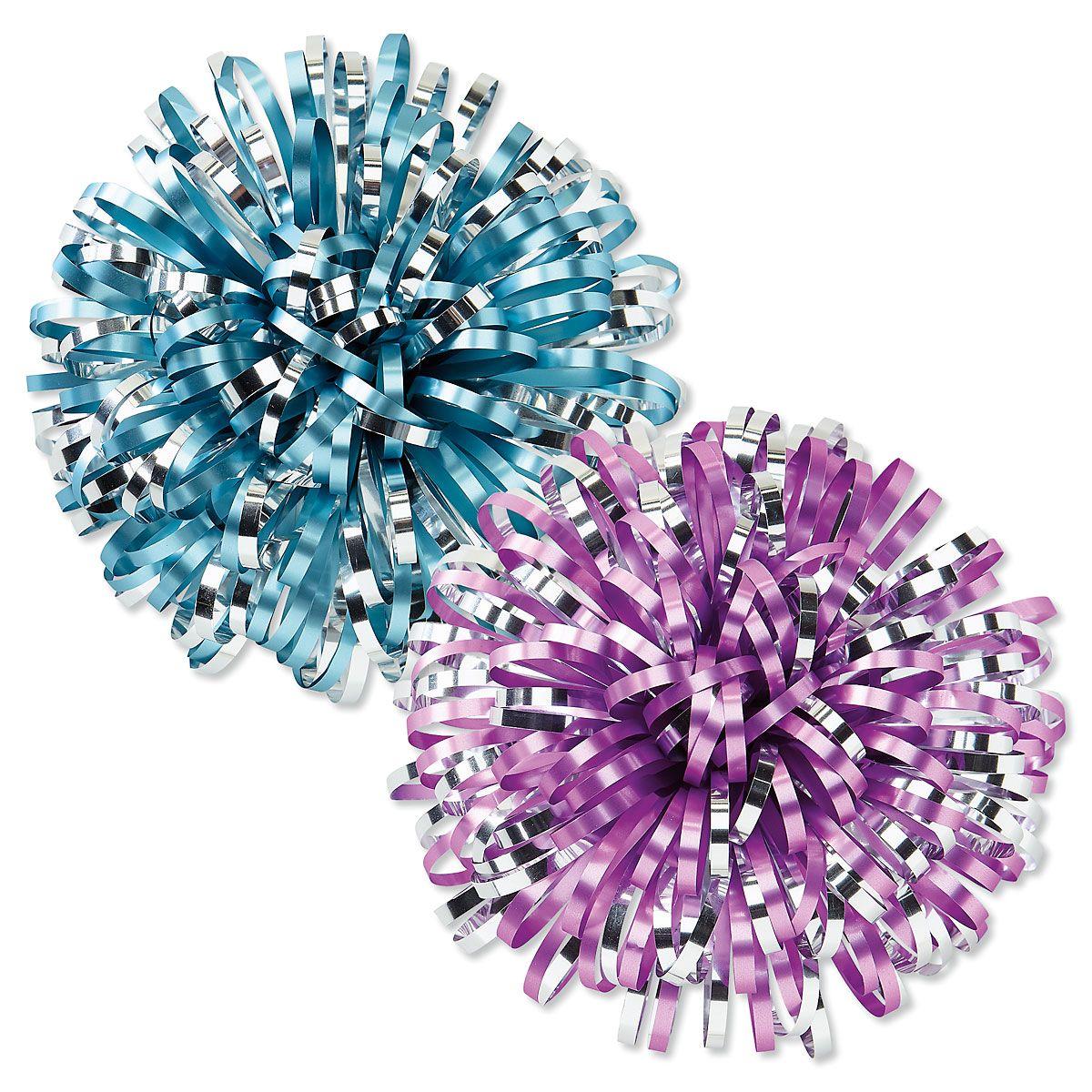 Metallic Firework Gift Bows