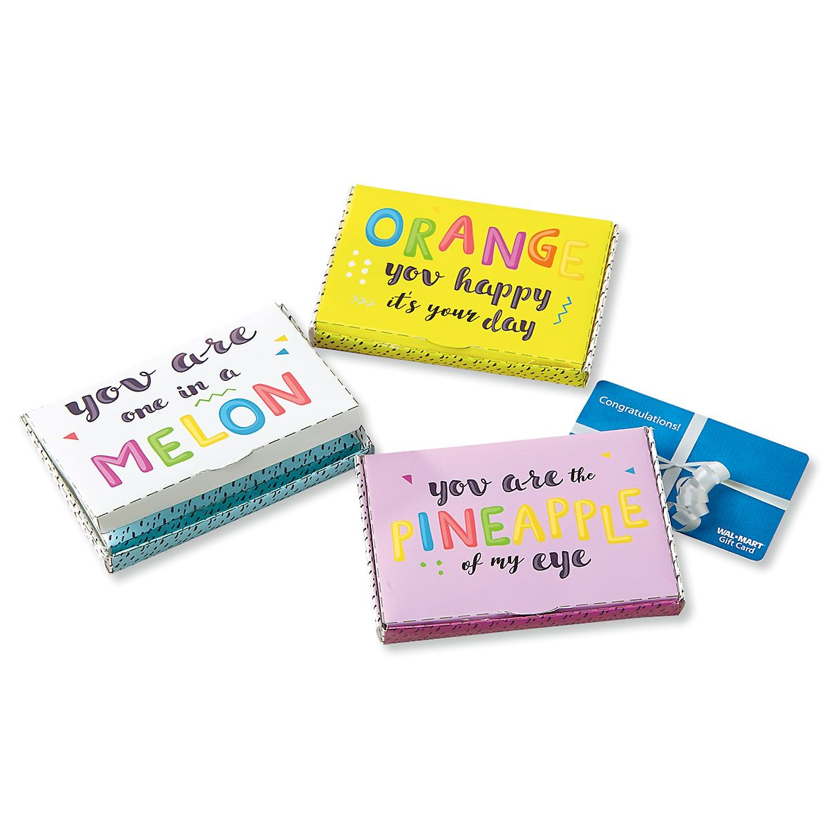 Fruity All-Occasion Gift Card Boxes