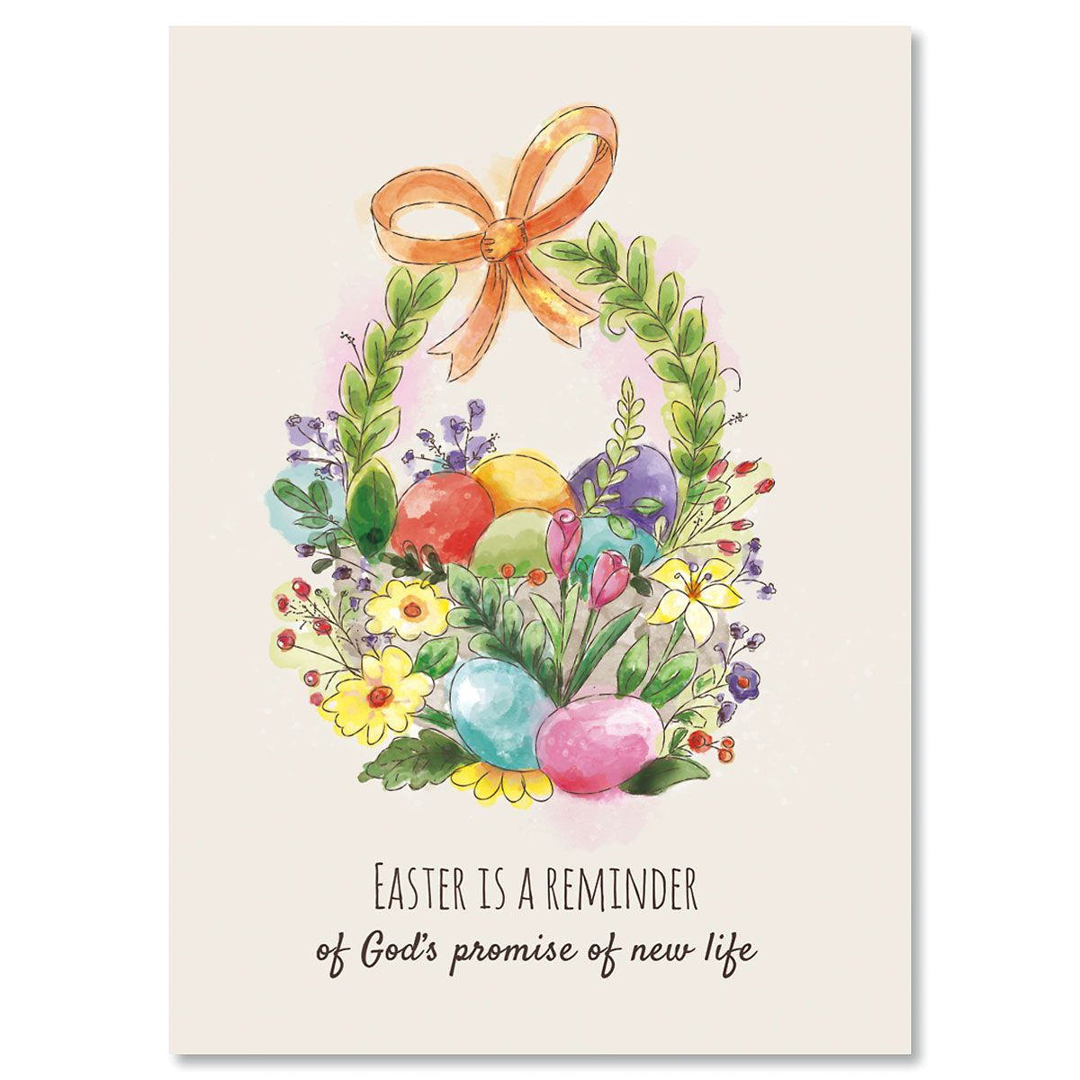Single Design Easter Basket Easter Cards