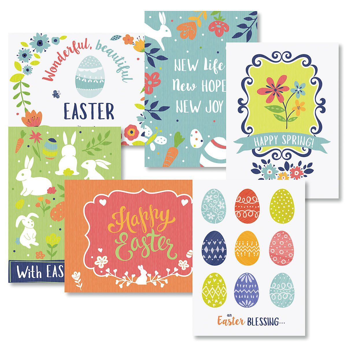 Easter Colors Cards Value Pack