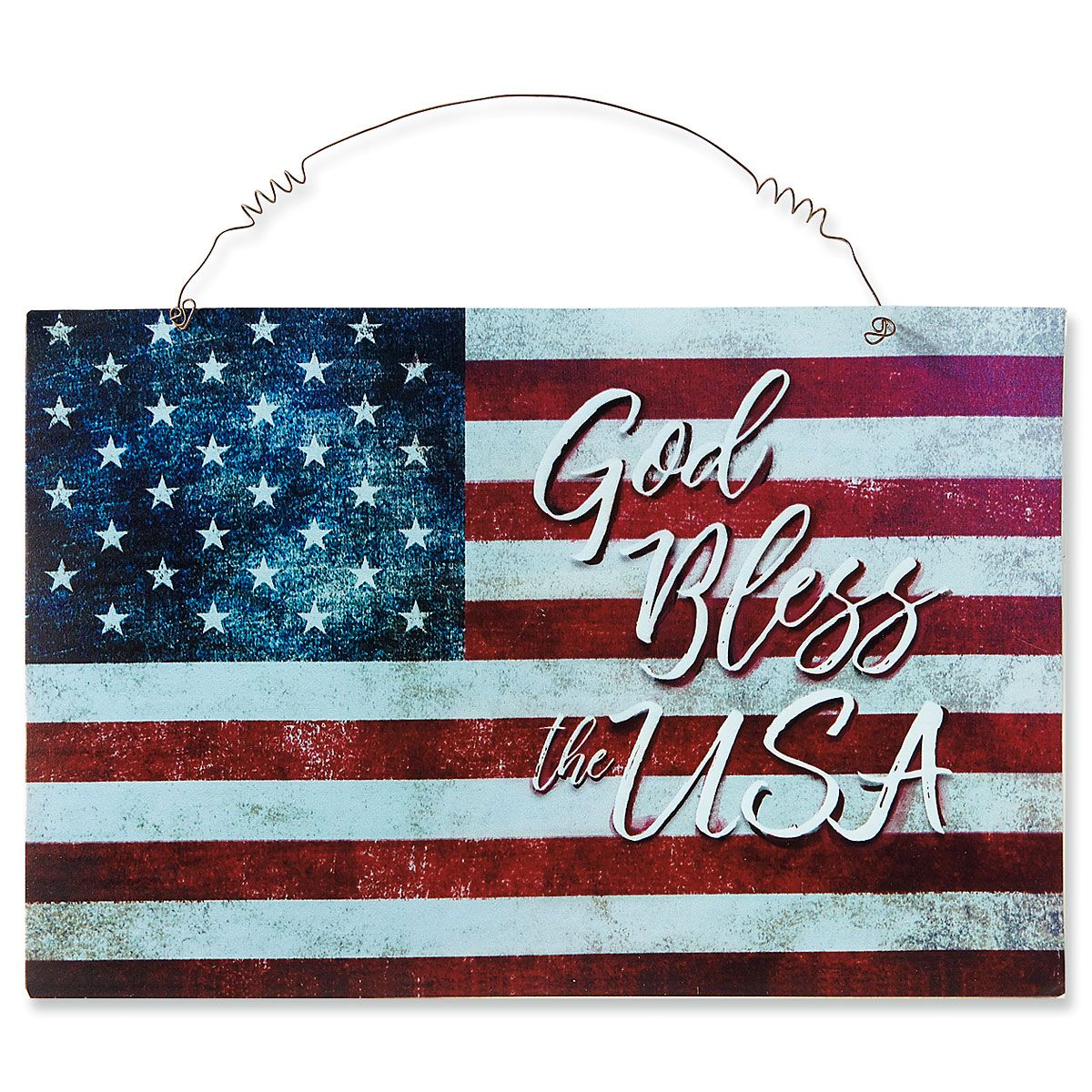 Patriotic Metal Door Plaque