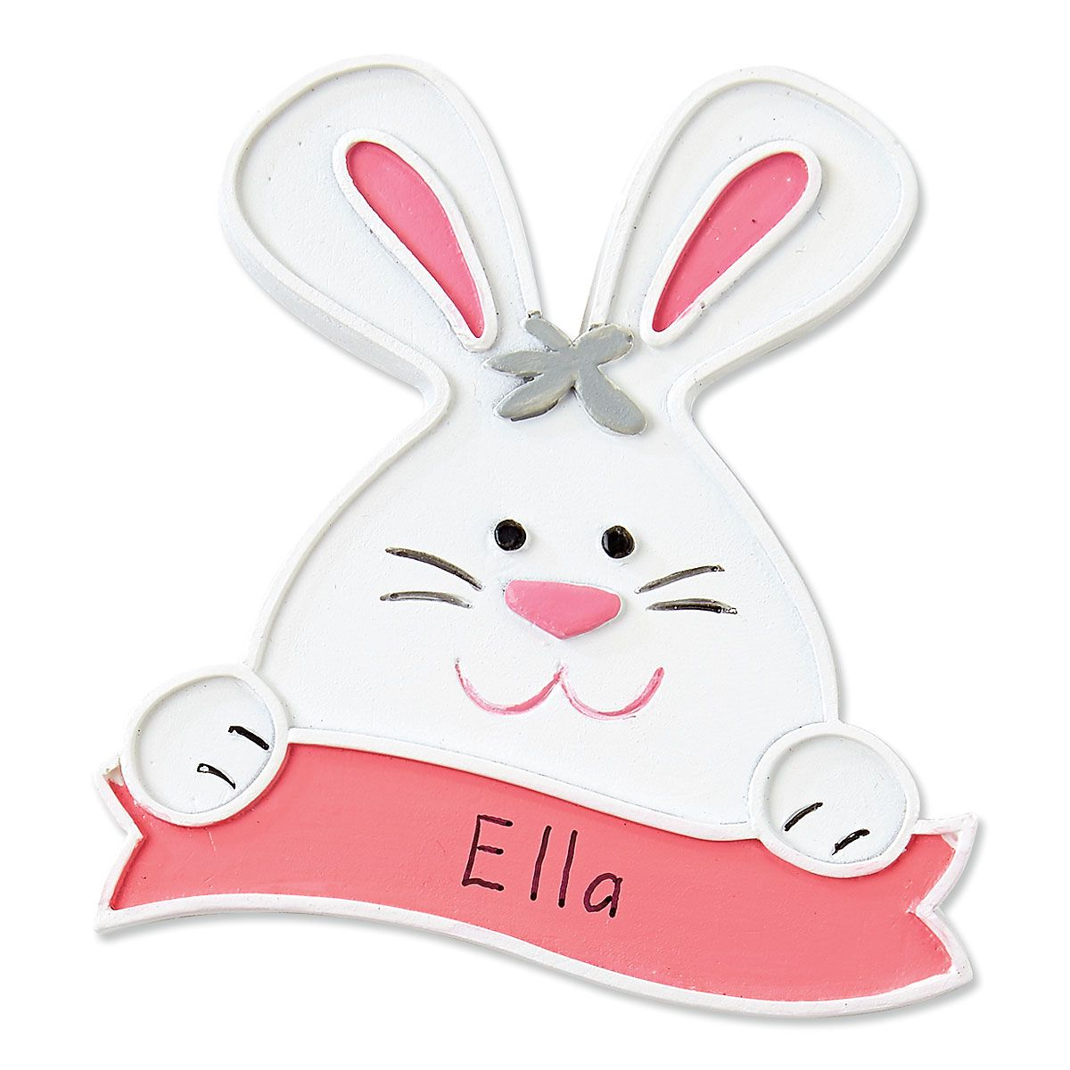 Personalized Coral Bunny Magnet