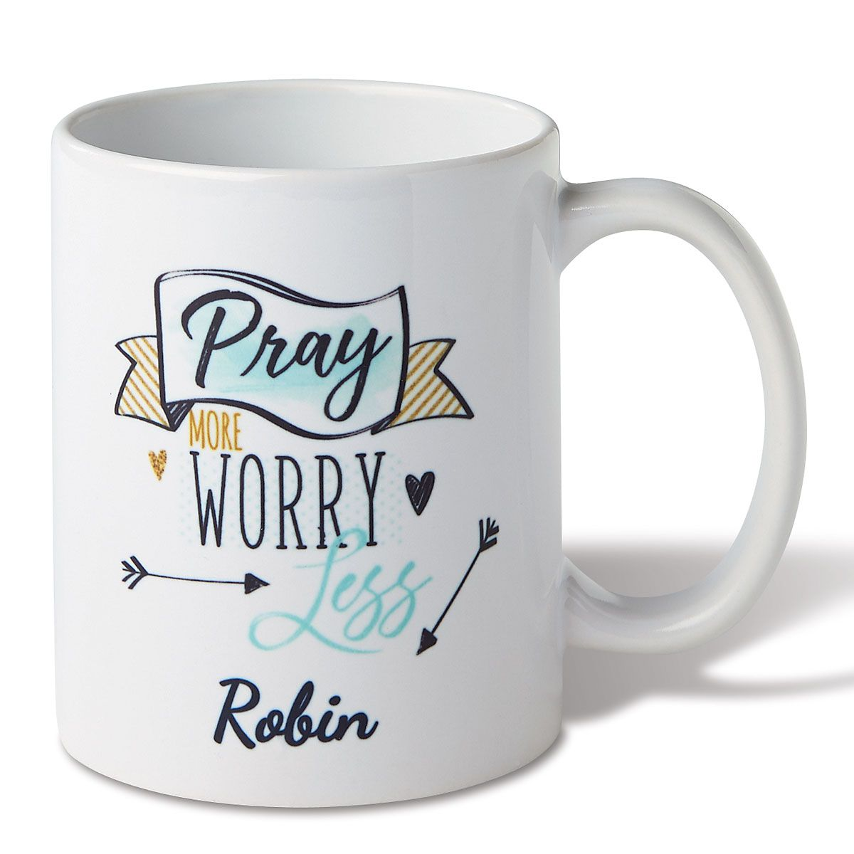Personalized Pray More Mug