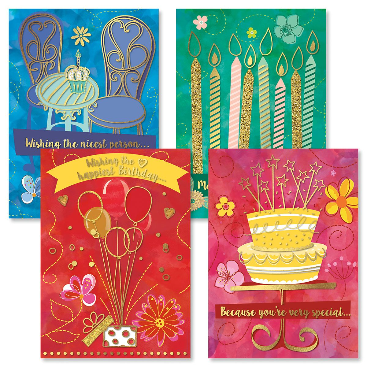 Deluxe BOHO Birthday Cards and Seals