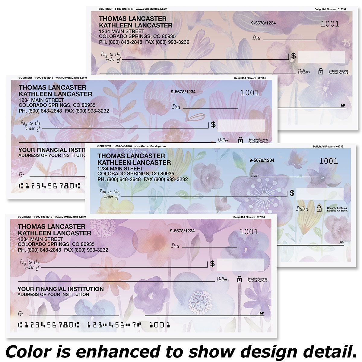 Delightful Flowers Checks