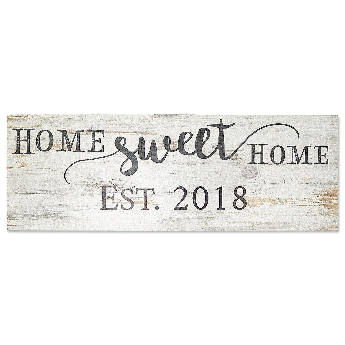 Personalized Established Home Sweet Home Plaque