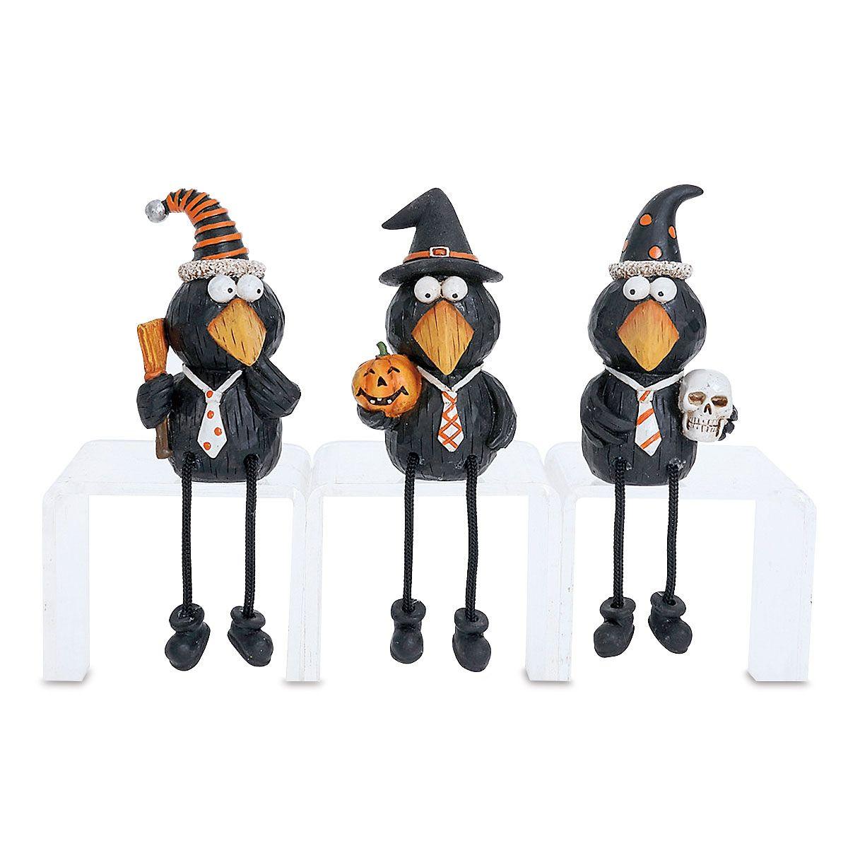 Black Crows Shelf-Sitter Figurines