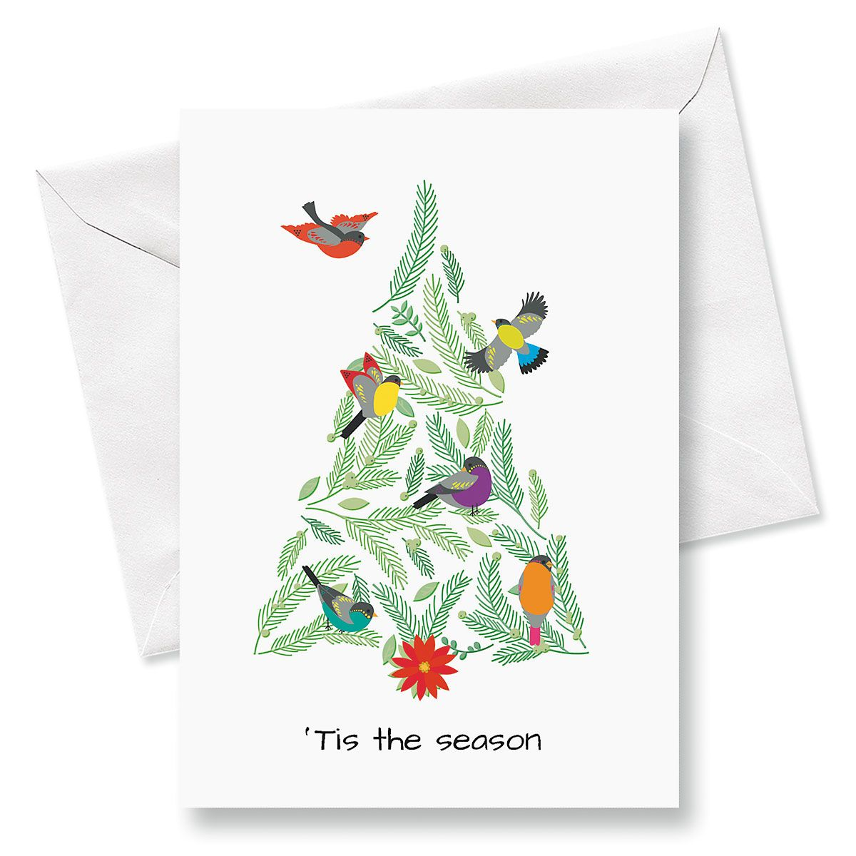 Birds In Tree Christmas Cards