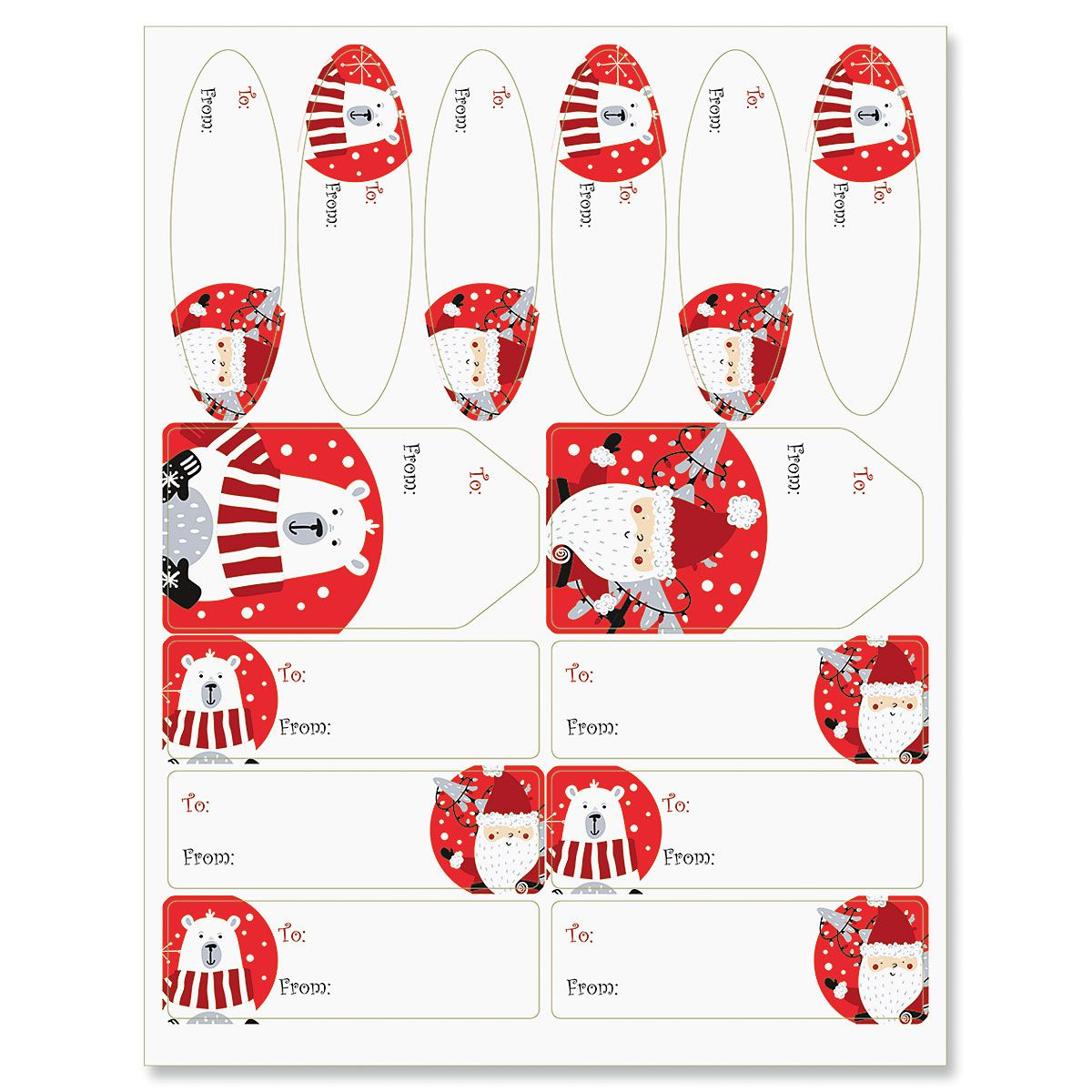 Ho Ho Santa Labels