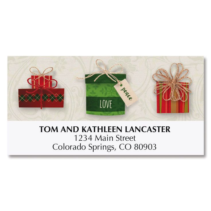 Gift Boxes Deluxe Address Labels