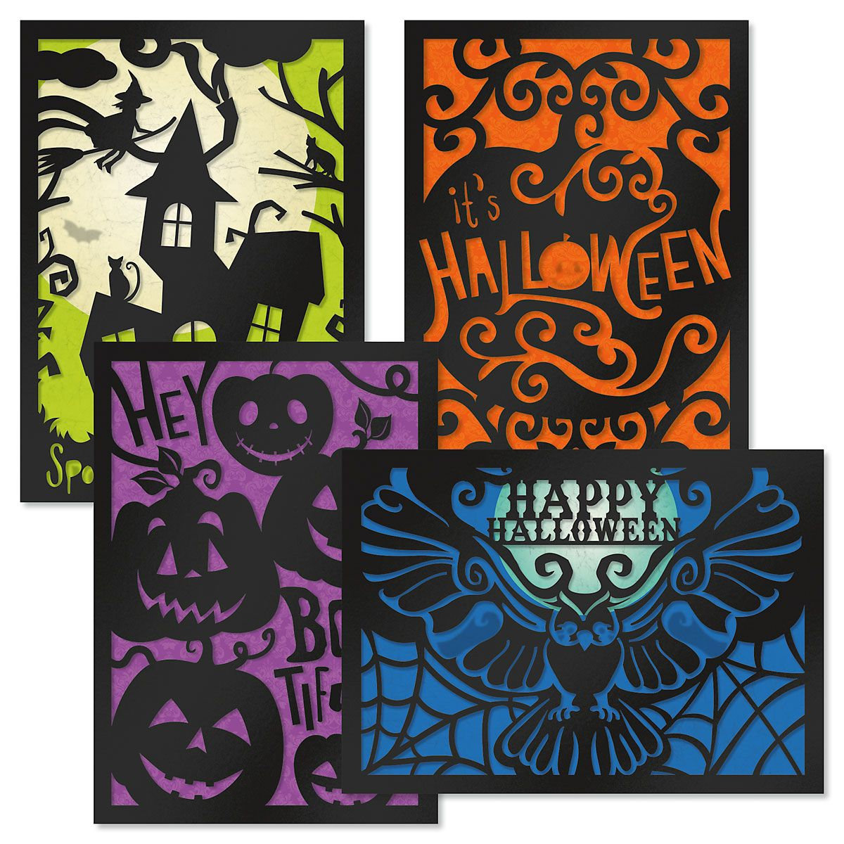 Deluxe Haunted Halloween Cards