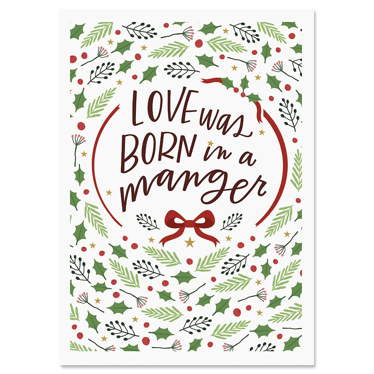 Love Was Born Christmas Cards - Personalized