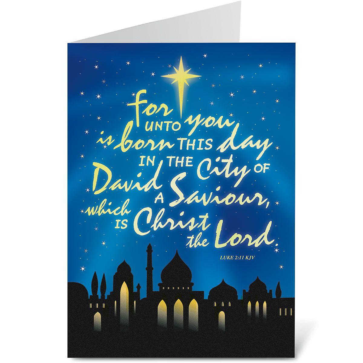 Bethlehem Religious Christmas Cards
