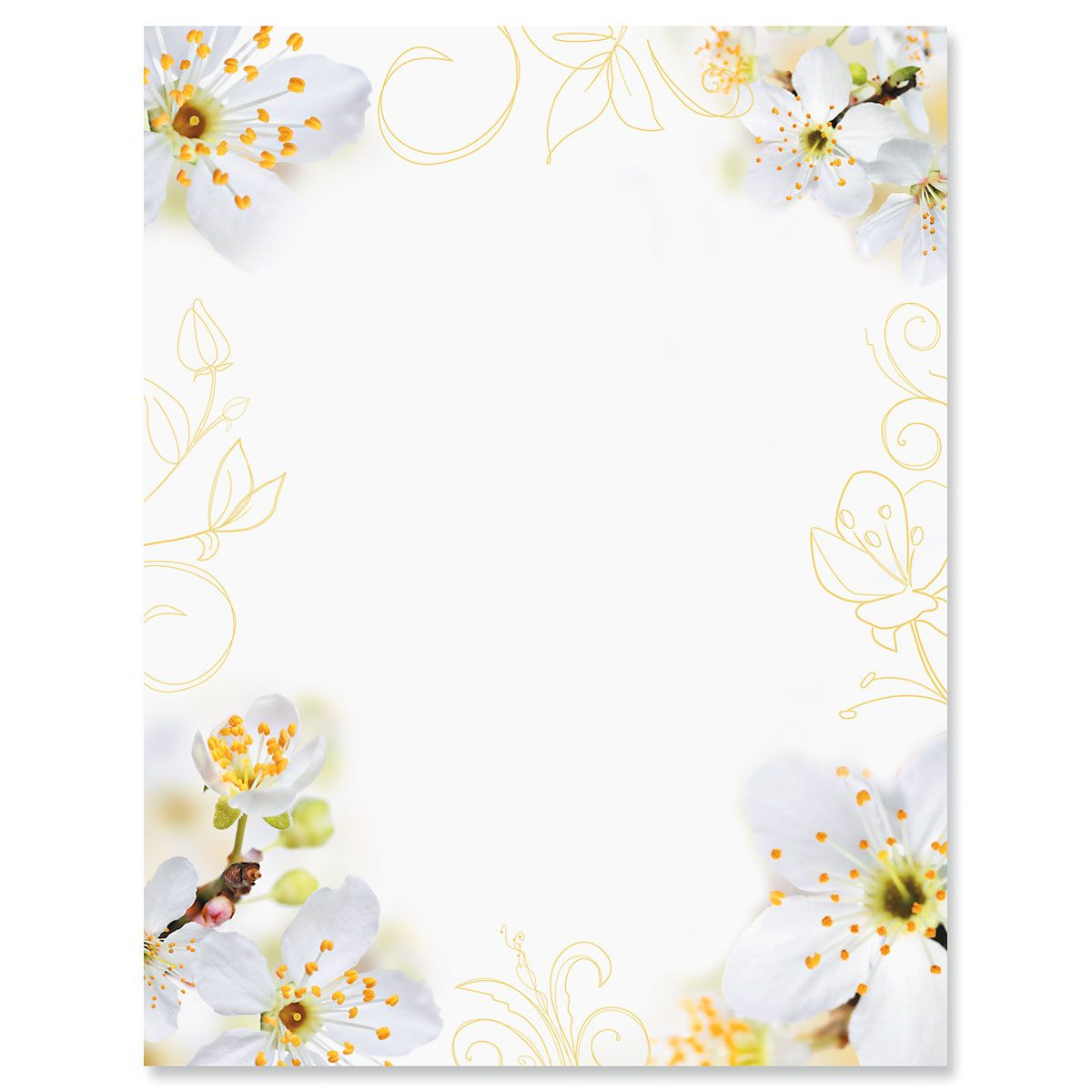 Photo Floral Letter Papers