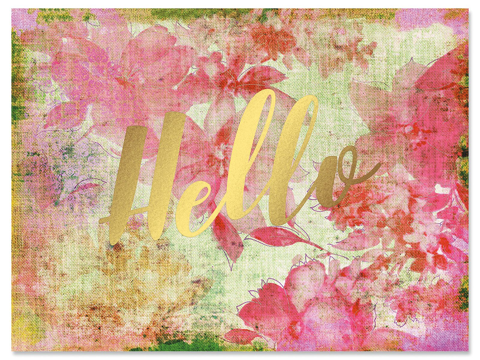 Floral Hello Notecard - BOGO