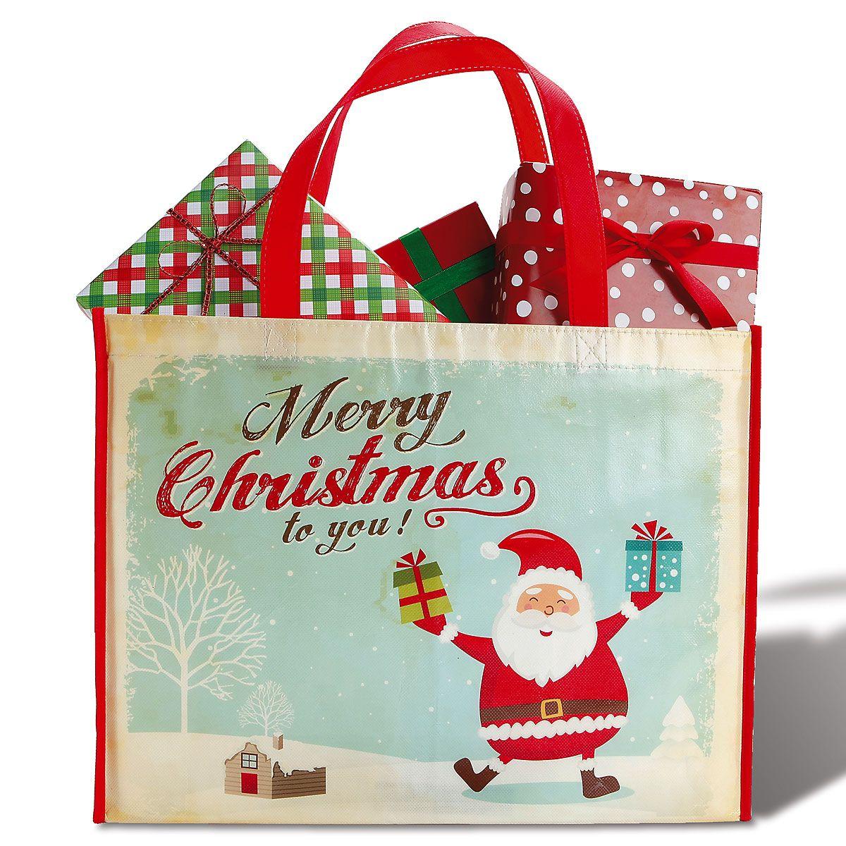 Retro Santa Shopping Bag - BOGO
