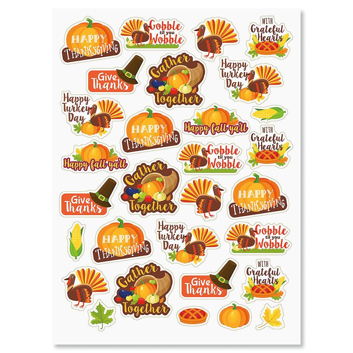 Turkey Talk Stickers - BOGO