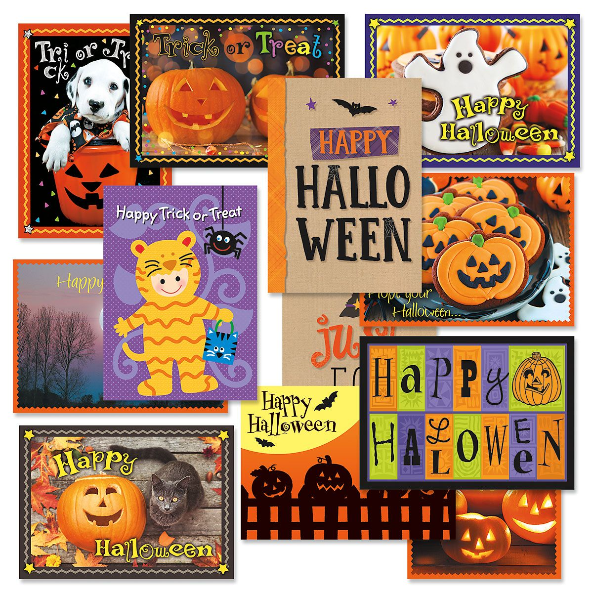 Halloween Greeting Cards Value Pack