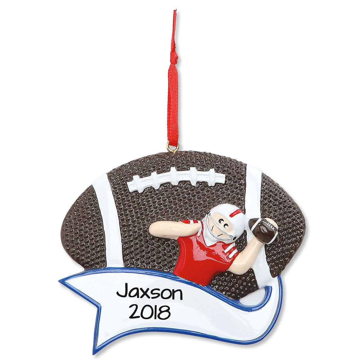 Football Personalized Christmas Ornament