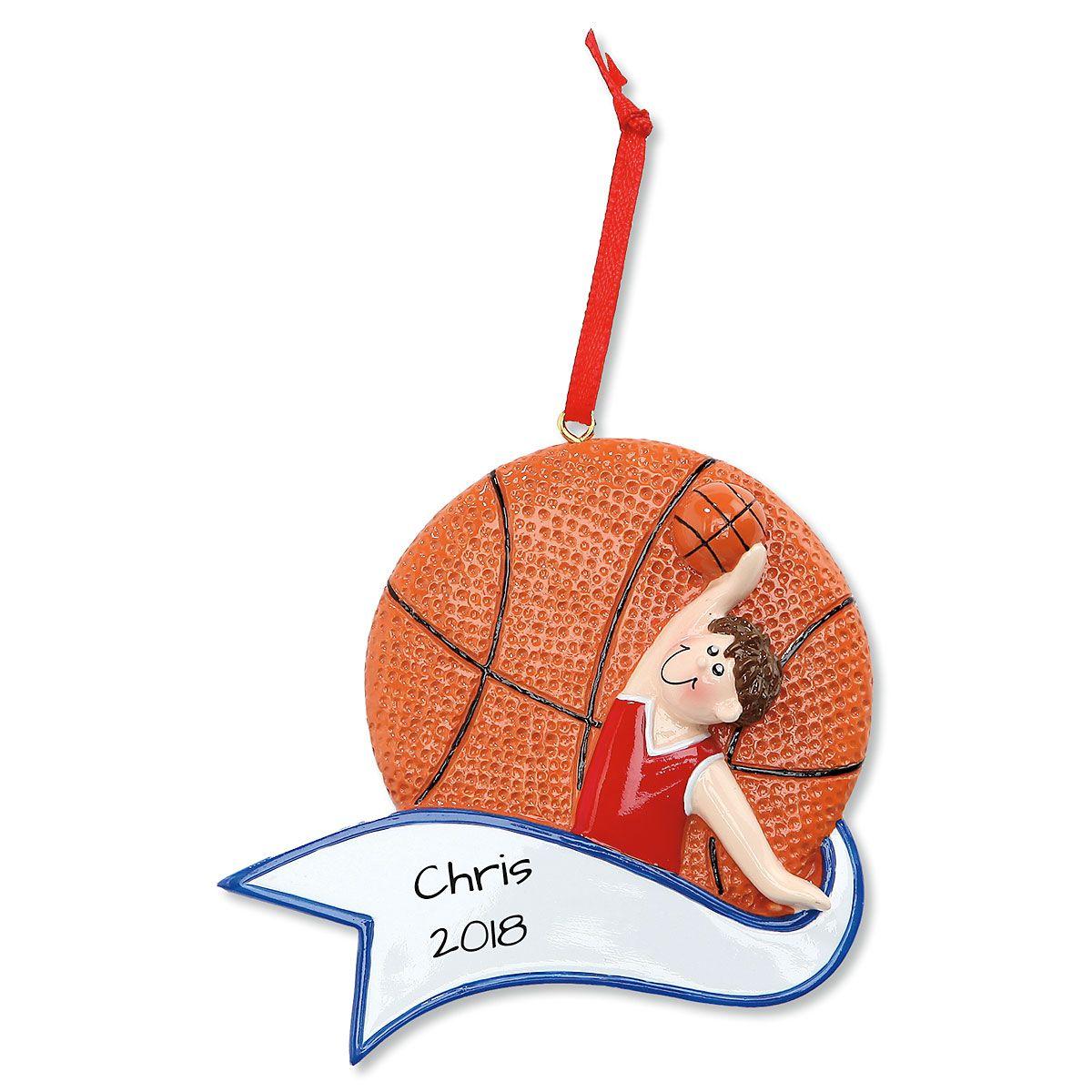 Basketball Boy Personalized Christmas Ornament