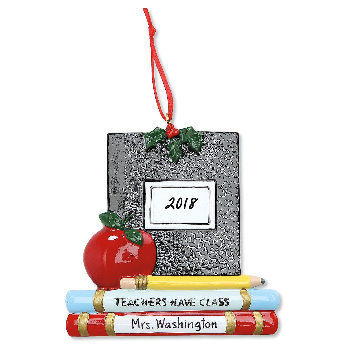 Composition Book Personalized Christmas Ornament