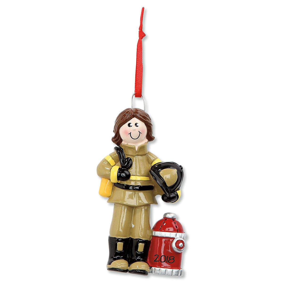 Firewoman Personalized Christmas Ornament