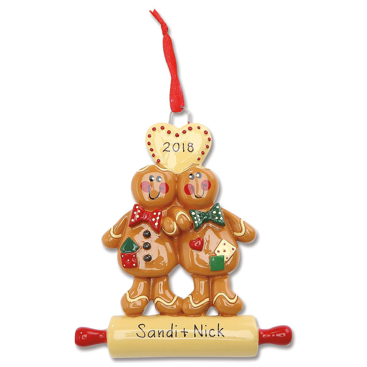 Gingerbread Couple Personalized Christmas Ornament