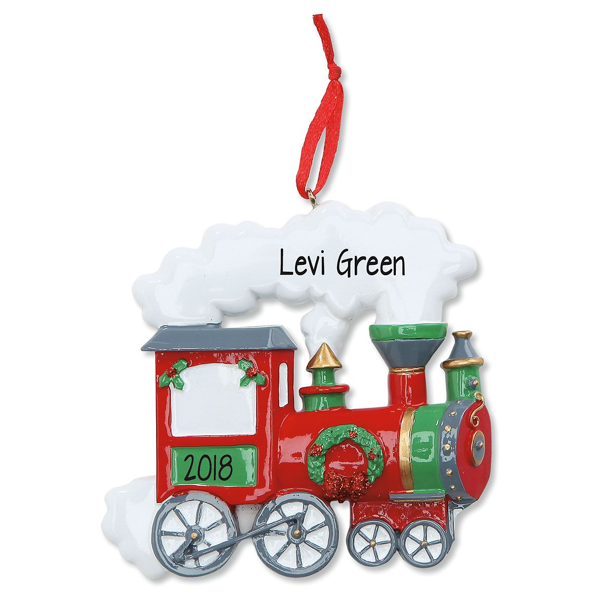 Train Personalized Christmas Ornament
