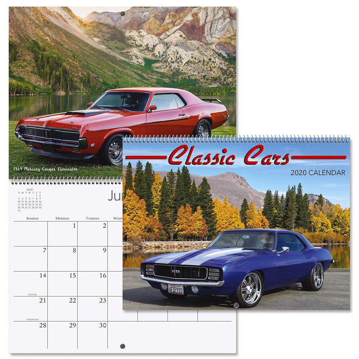 2020 Classic Cars Wall Calendar