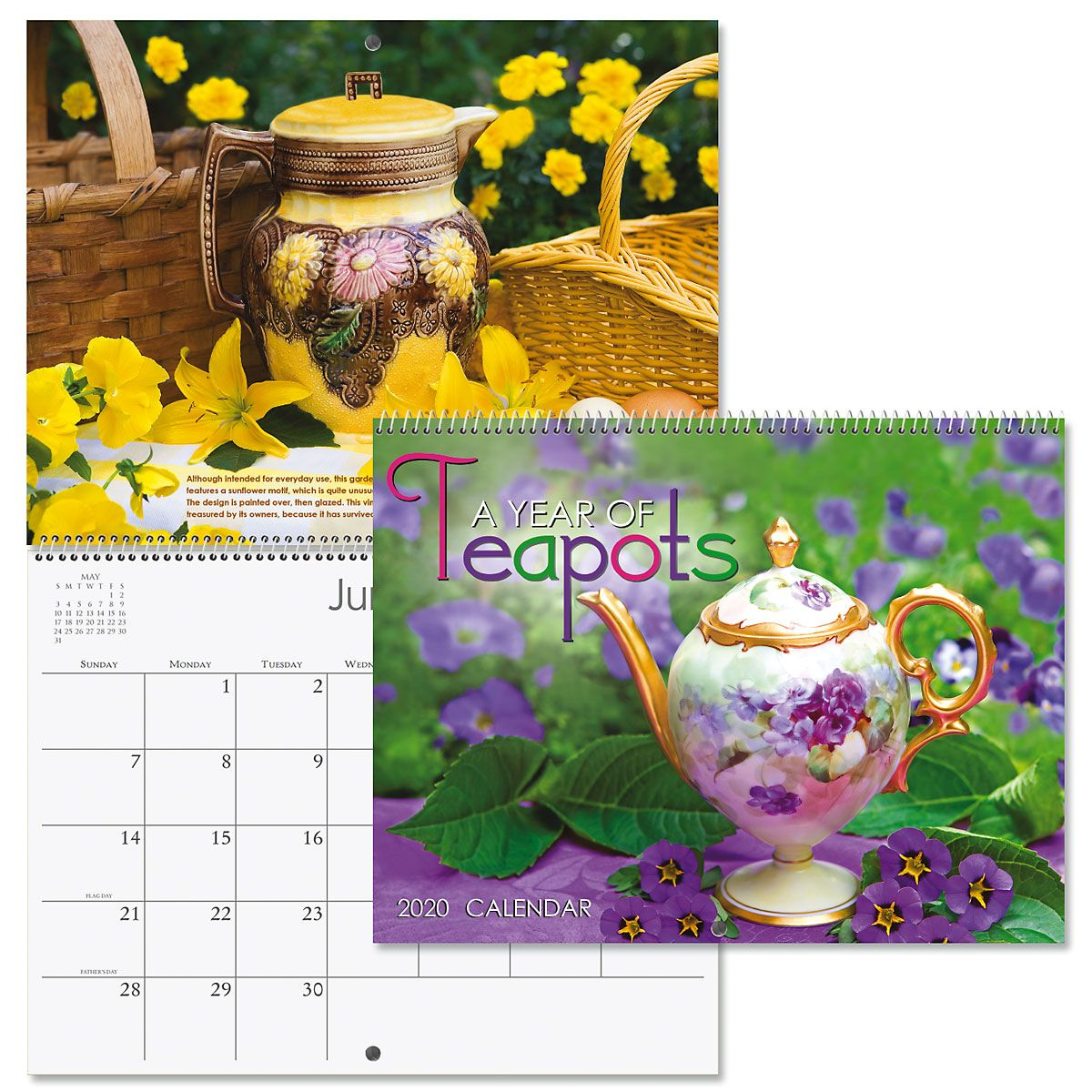 2020 Teapots Wall Calendar