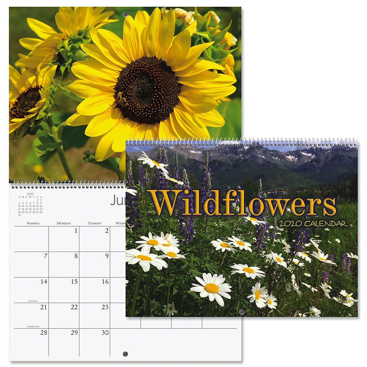 2020 Wildflowers Wall Calendar