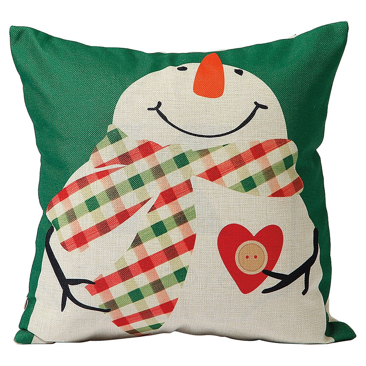 Snowman Christmas Pillow Cover