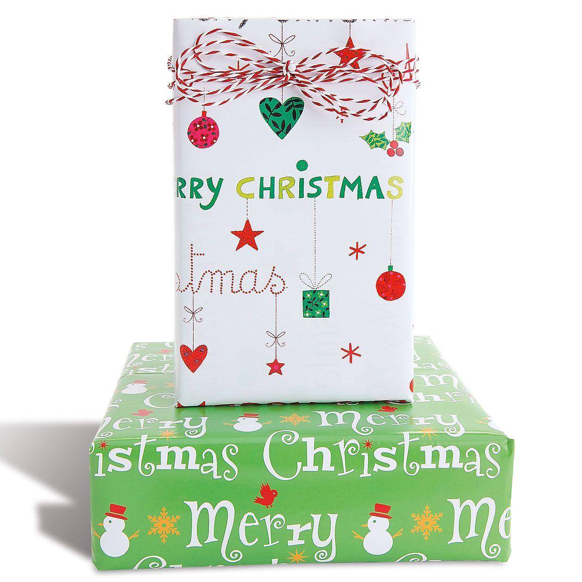 Flat Christmas Gift Wrap Sheets - BOGO