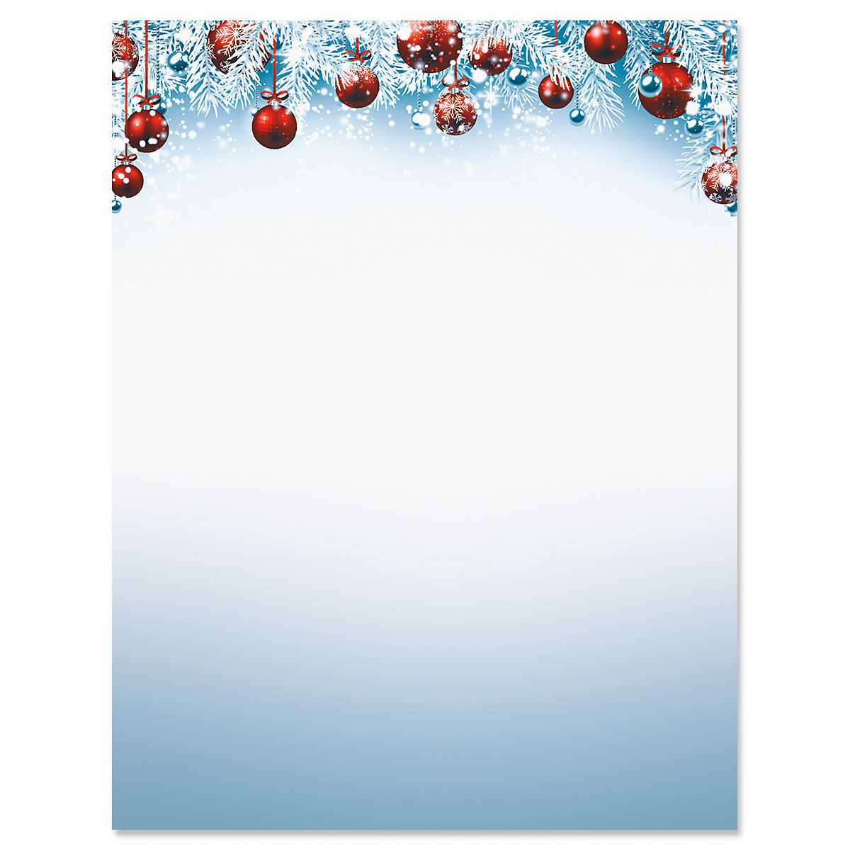 Red Ornaments Deluxe Christmas Letter Papers
